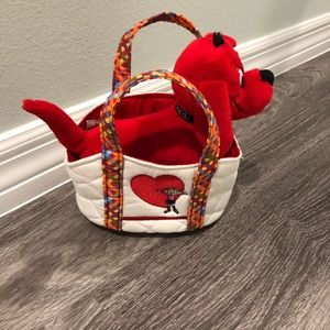 Clifford the Big Red Dog with stylish tote.
